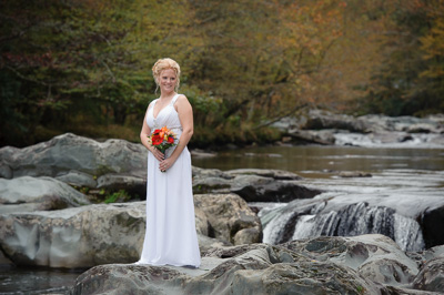 Smoky Mountain Bridal Portrait