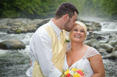 Outdoor wedding in the Smokies