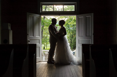 Cades Cove Wedding portrait