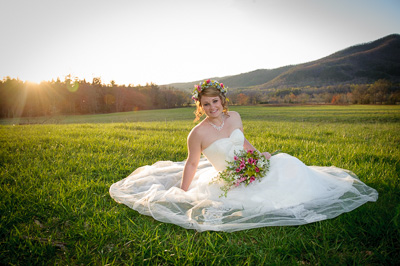 Bride in Cades Cove-LeQuire Field