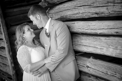 Cades Cove historic barn wedding photos