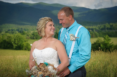 Bride and Groom in the Smokies
