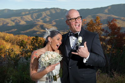 Fun Gatlinburg Wedding