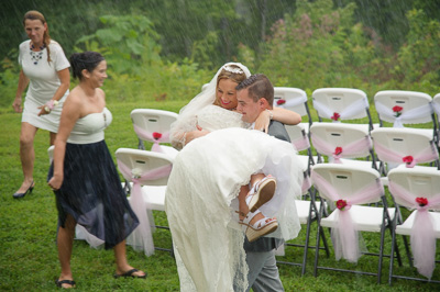 Gatlinburg Wedding in the rain