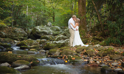 Secluded Gatlinburg Creekside Wedding