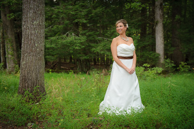 Bride at the Cades Cove Primitive Baptist Church